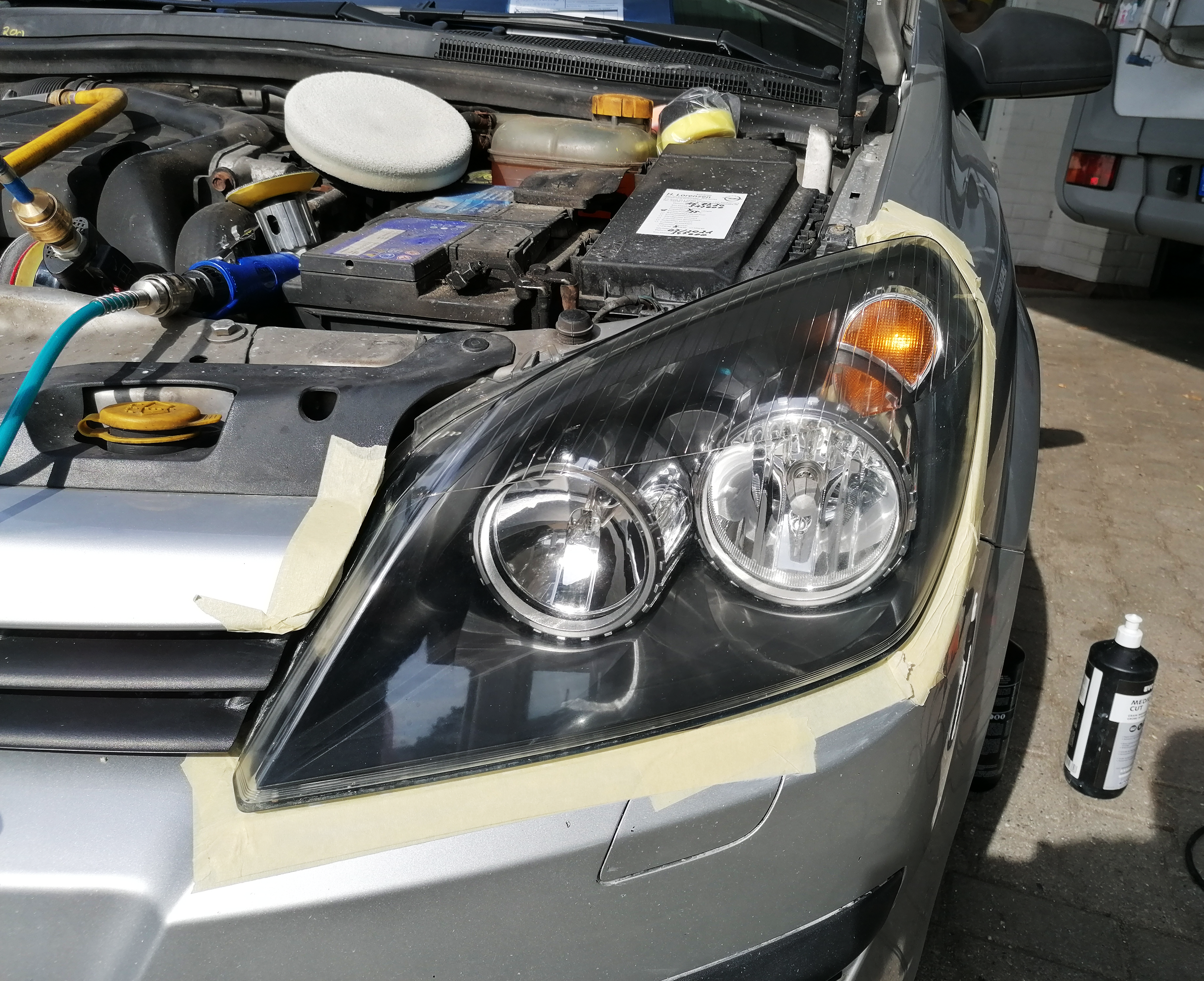 Scheinwerfer Opel Astra Nachher